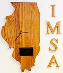 Wooden Illinois Clock