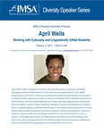 Diversity Speaker Series: April Wells