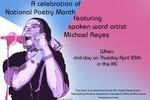 Poetry Month Series: Michael Reyes by Michael Reyes