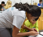 2018 Family Reading Night: Science activity by Information Resource Center