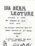 IDA Beam Lecture