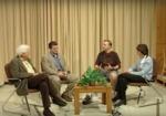 Dr. Leon Lederman, Brian Maier '89, Kevin Schraith '89, and Dr. Stephanie Pace Marshall