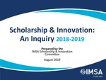 FY20 Community Day Presentation | Scholarship & Innovation: An Inquiry 2018-2019 by José M. Torres, Kelly Page, Amber Stitziel Pareja, Jean Bigger, Richard Palmer, Lindsey Herlehy, Richard Schultz, and Nadia Miskowiec