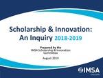 FY20 Community Day Presentation | Scholarship & Innovation: An Inquiry 2018-2019
