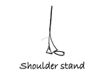 """Reclining: """"Shoulder Stand"""" by Mary Myers"""