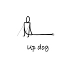 """Reclining: """"Up Dog"""" by Mary Myers"""